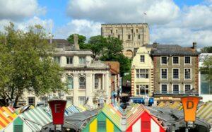 Norwich Market Looking to Castle